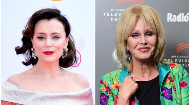 Keeley Hawes and Joanna Lumley star in a new black comedy series (PA)