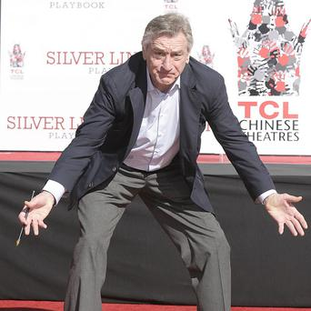 Robert De Niro had his hand and footprint ceremony at the TCL Chinese Theatre in Los Angeles