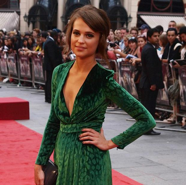 Swedish actress Alicia Vikander arriving for the premiere of Anna Karenina at the Odeon Leicester Square, London. PRESS ASSOCIATION Photo. Picture date: Tuesday September 4, 2012. Photo credit should read: Max Nash/PA Wire