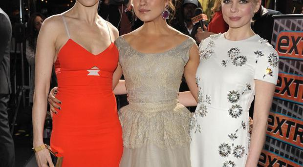Rachel Weisz, Mila Kunis and Michelle Williams arrive at the world premiere of Oz The Great And Powerful in LA