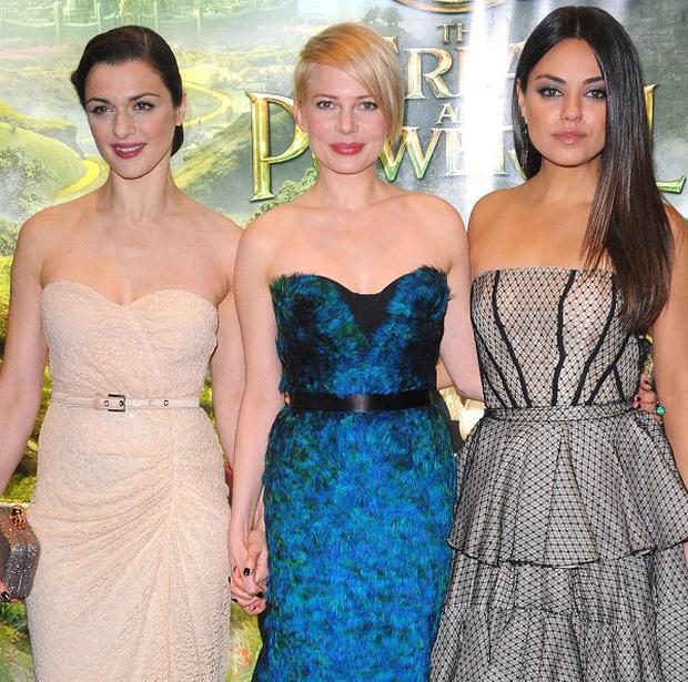Screen sirens (from left) Rachel Weisz, Michelle Williams and Mila Kunis at the European premiere of Oz The Great And Powerful in London