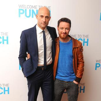 Mark Strong and James McAvoy attending the gala screening of Welcome To The Punch