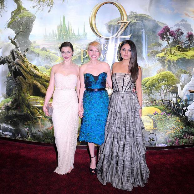 Rachel Weisz, Michelle Williams and Mila Kunis star in Oz The Great And The Powerful