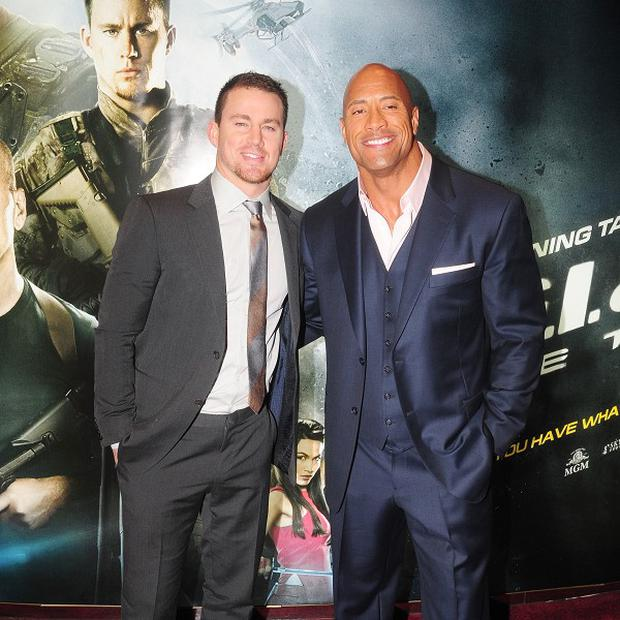 Channing Tatum and Dwayne Johnson star in GI Joe: Retaliation