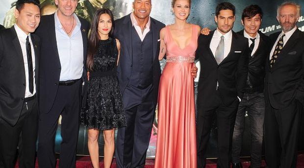 Jon M Chu and the GI Joe: Retaliation cast