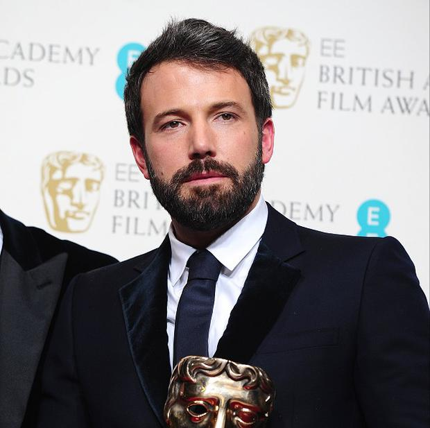 Ben Affleck with the best film Bafta award for Argo