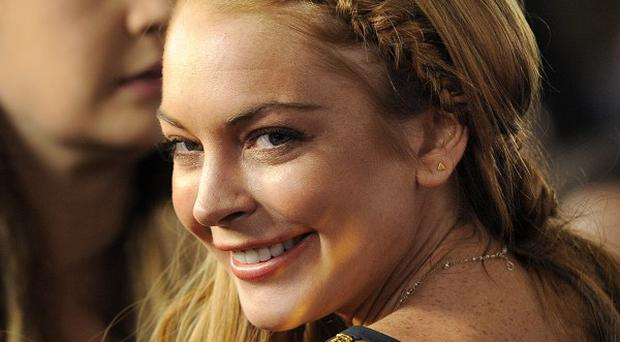 Lindsay Lohan was at the Hollywood premiere of Scary Movie 5