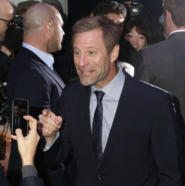 Aaron Eckhart says choosing a bad guy can be tricky these days