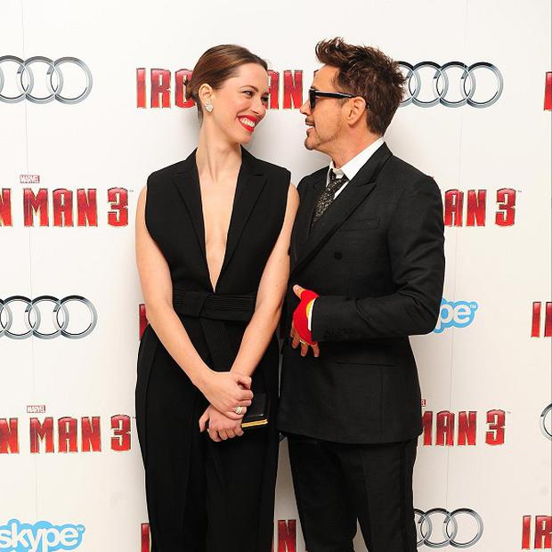 Rebecca Hall said Robert Downey Jr made her feel comfortable on Iron Man 3