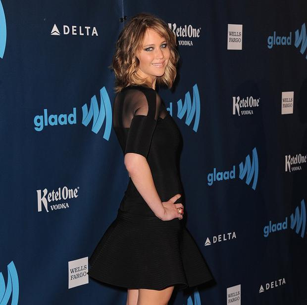 Jennifer Lawrence attended the GLAAD awards in LA