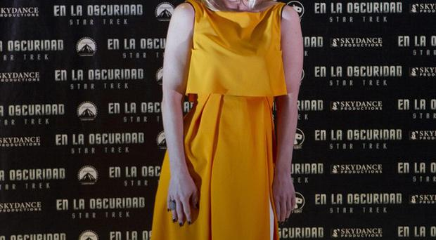 Alice Eve was made to run around the Star Trek set for laughs