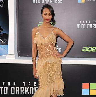 Zoe Saldana attended the LA premiere of Star Trek Into Darkness