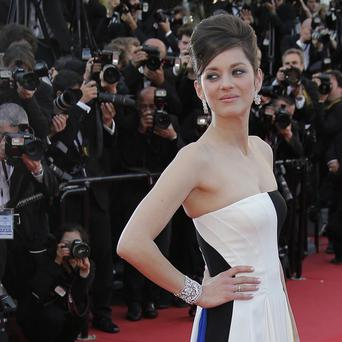 Marion Cotillard poses on the red carpet in Cannes