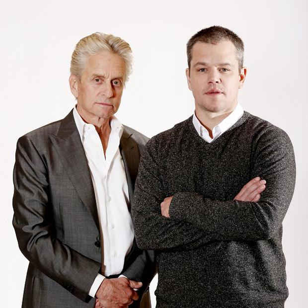 Michael Douglas and Matt Damon play lovers in Liberace biopic Behind the Candelabra