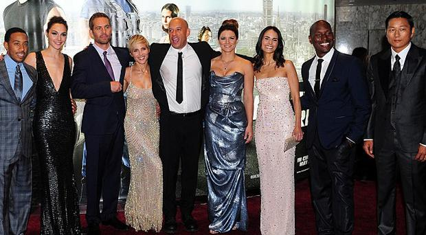 Sun Kang, far right, with the Fast And Furious 6 cast