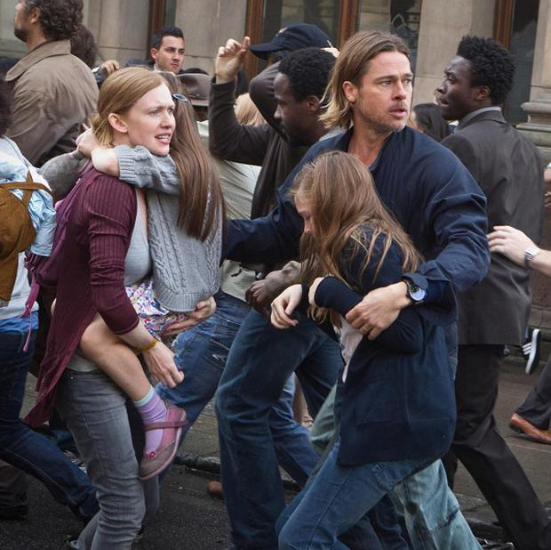 Brad Pitt and Mireille Enos star in new zombie movie World War Z