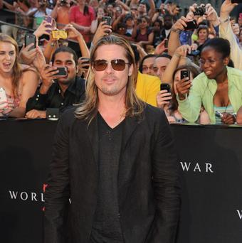 Brad Pitt at the premiere of World War Z in Times Square in New York (Evan Agostini/Invision/AP)