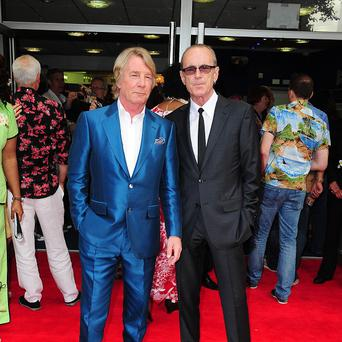 Rick Parfitt and Francis Rossi arrive at the premiere of new film Bula Quo