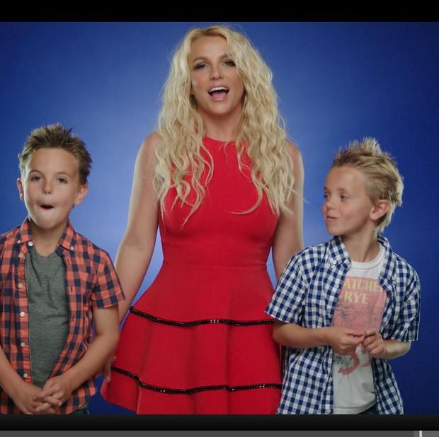 Britney Spears' sons are big fans of the Smurfs