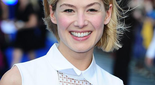 Rosamund Pike enjoyed her reunion with Pierce Brosnan