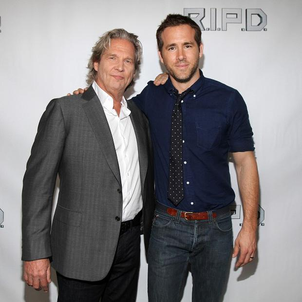 Jeff Bridges and Ryan Reynolds host the special advance screening of RIPD in Boston