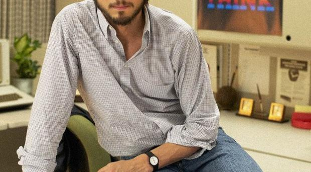 Ashton Kutcher plays the late Apple pioneer Steve Jobs