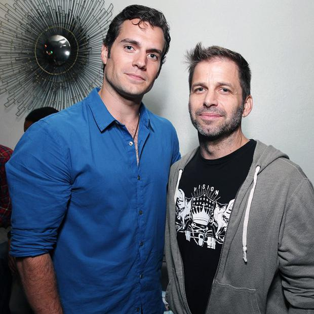 Henry Cavill and director Zack Snyder attend the Superman 75th anniversary party at Comic-Con (Eric Charbonneau/Invision/AP)