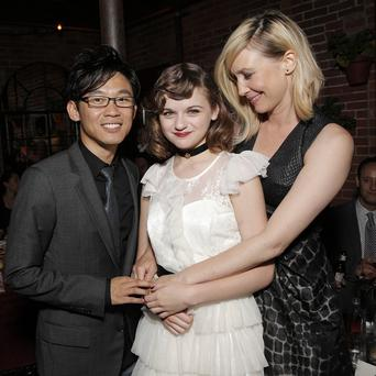 The Conjuring director James Wan with stars Joey King and Vera Farmiga