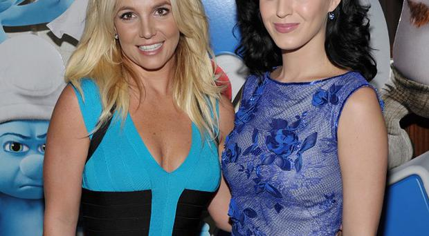 Britney Spears and Katy Perry were at The Smurfs 2 premiere