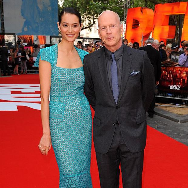 Bruce Willis with wife Emma Heming