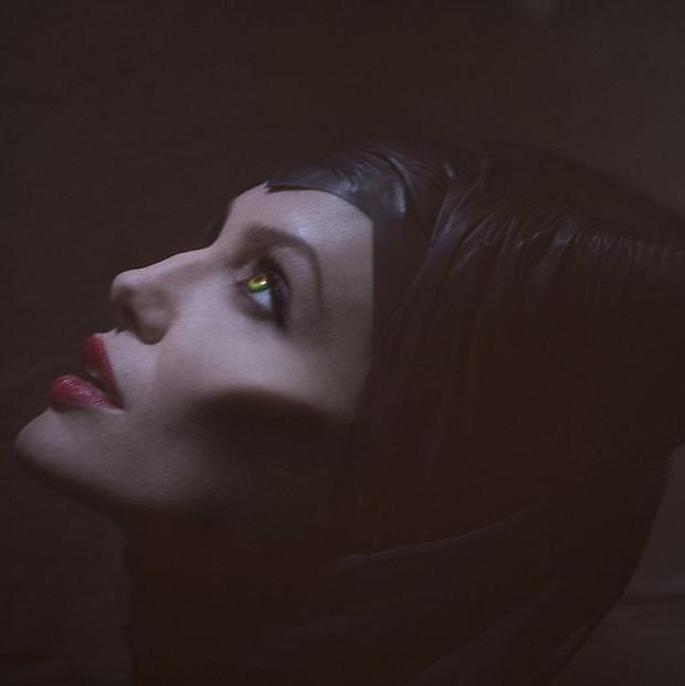 Angelina Jolie plays the lead role in Maleficent
