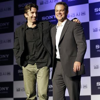 Matt Damon and Sharlto Copley have been promoting their film Elysium in South Korea