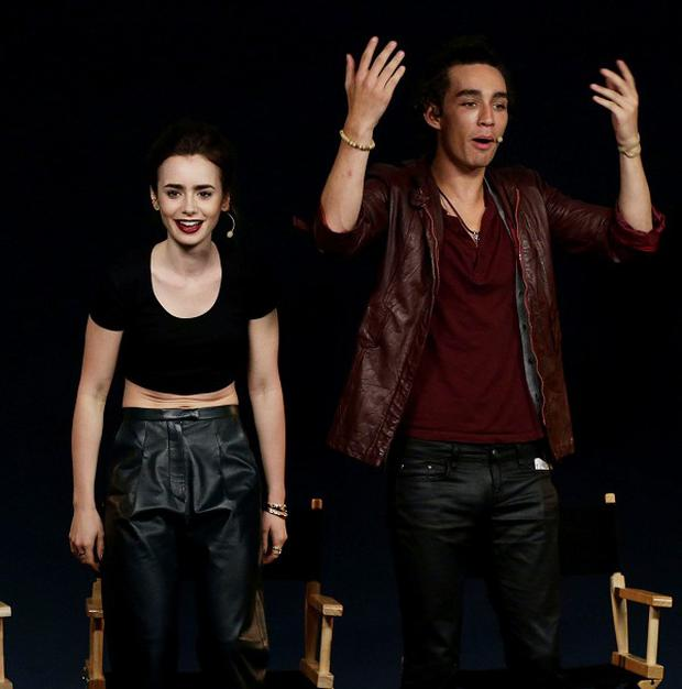 Jamie Campbell Bower, Lily Collins and Robert Sheehan star in The Mortal Instruments: City Of Bones