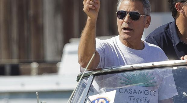 George Clooney arrives at the Venice Film Festival