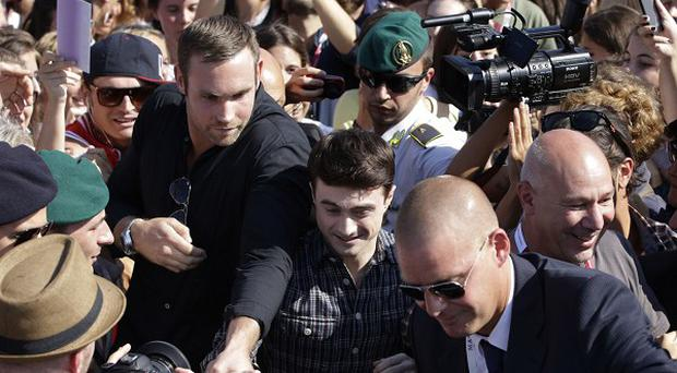 Daniel Radcliffe was mobbed by fans at the Venice Film Festival
