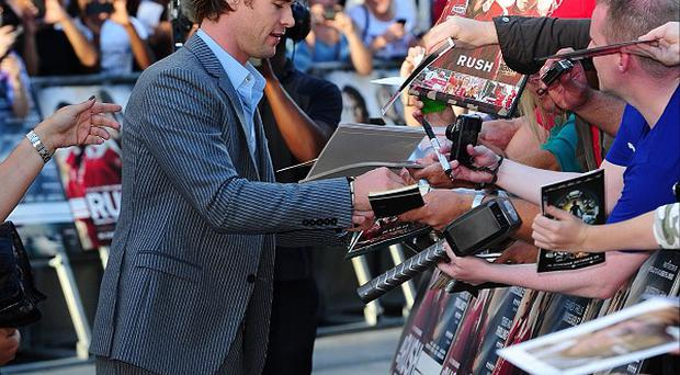 Chris Hemsworth arriving for the premiere of Rush