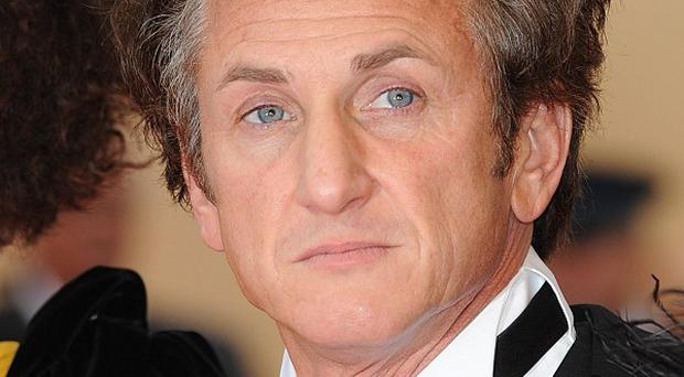 Sean Penn has been spotted filming in London