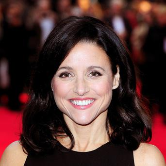 Julia Louis-Dreyfus at the London Film Festival screening of Enough Said at the Odeon West End, Leicester Square