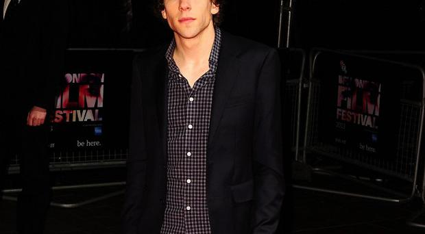 Jesse Eisenberg arriving at the 57th BFI London Film Festival official screening of The Double at the Odeon West End, Leicester Square, London.