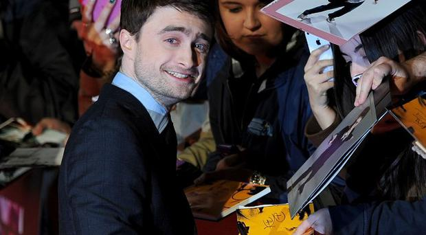 Daniel Radcliffe attends the premiere of Kill Your Darlings at Odeon West End, London