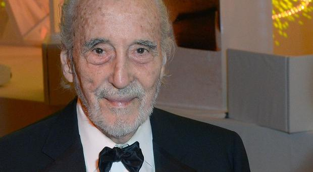 Sir Christopher Lee attends the 57th BFI London Film Festival Awards at the Banqueting House, Whitehall