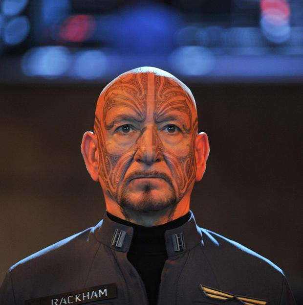 Sir Ben Kingsley spent hours in the make-up chair for his Ender's Game role