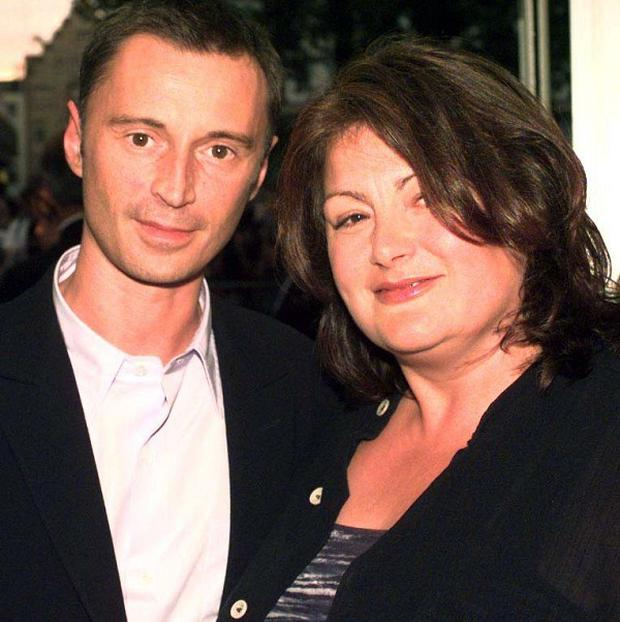 Antonia Bird, pictured with Robert Carlyle