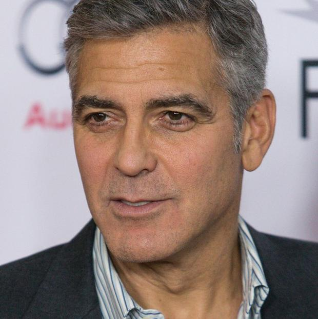 George Clooney took home the Stanley Kubrick Britannia Award for Excellence in Film (AP)