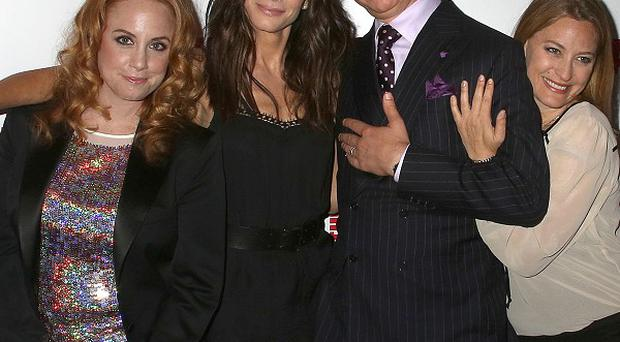 Jamie Chaffin, Sandra Bullock, Paul Feig and Jessica Chaffin at The Heat premiere in London