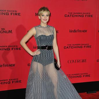 Jennifer Lawrence at the LA premiere of The Hunger Games: Catching Fire