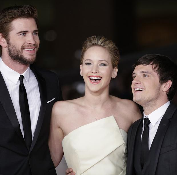 The Hunger Games: Catching Fire stars Liam Hemsworth, Jennifer Lawrence and Josh Hutcherson