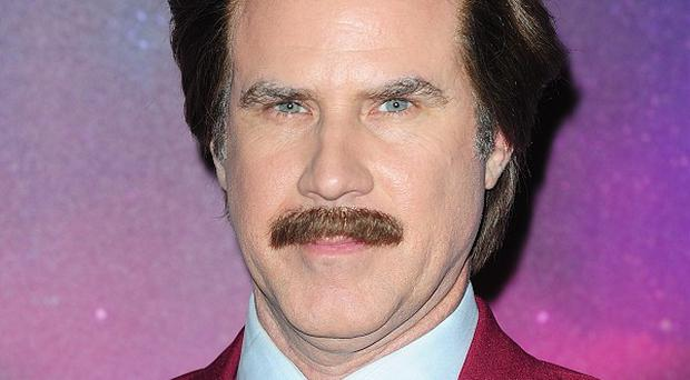 Will Ferrell stayed in character as Ron Burgundy for the newscast