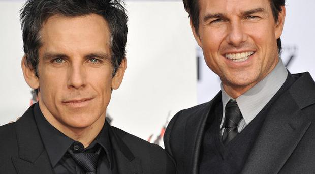 Ben Stiller and Tom Cruise at TCL Chinese Theatre in Los Angeles (Richard Shotwell/Invision/AP)
