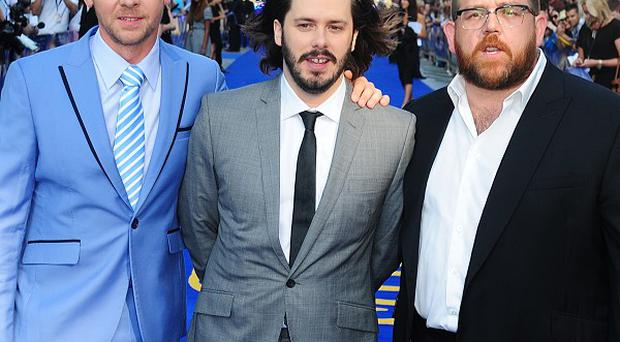 Simon Pegg, Edgar Wright and Nick Frost worked together on the Cornetto trilogy